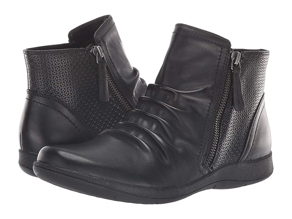 Rockport Daisey Panel Boot (Black Leather) Women
