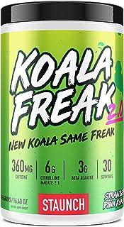 Staunch Koala Freak 2.0 Pre-Workout (Pina Koala) 30 Servings - Effective, Premium Pre-Workout Powder