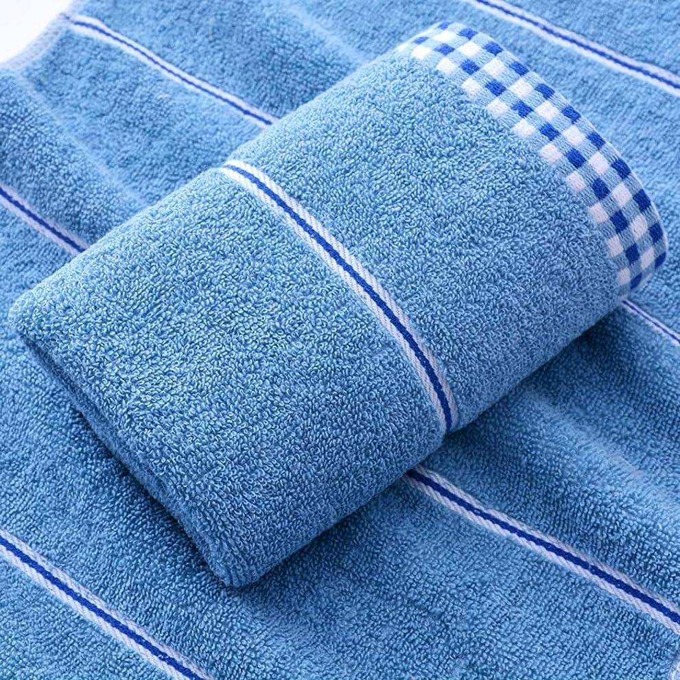 透明にフロント動かないファッション高級スーパーソフトコットンタオルと速乾性タオル,Blue,33*73cm