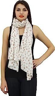 Phagun Women Neck Wrap Dupatta Scarf Rabbit Print 100% Cotton Lightweight, Shawl, Scarves Long Stole-28x72 Inches