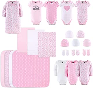 Newborn Layette Gift Set for Baby Girls | 23 Piece Newborn Clothes & Accessories Set | Fits Newborn to 3 Months | Floral Pink