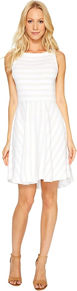 Three Dots - Santorini Stripe Fit & Flare Dress