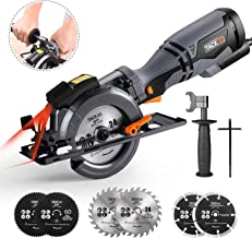 "TACKLIFE Circular Saw with Metal Handle, 6 Blades(4-3/4"" & 4-1/2""), Laser Guide, 5.8A, Max Cutting Depth 1-11/16'' (90°), ..."