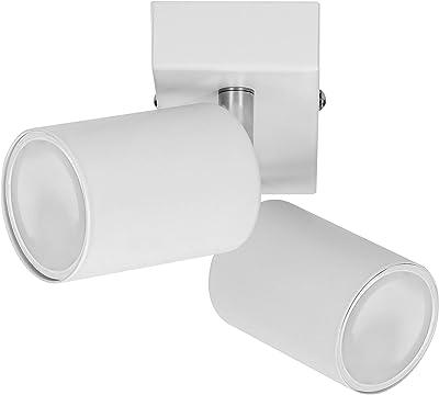 ORNO DOA SP 10 Spot Plafonnier et Applique Murale Spot GU10 max 2x 35 W, IP20(Ampoule vendue séparément) (blanc)