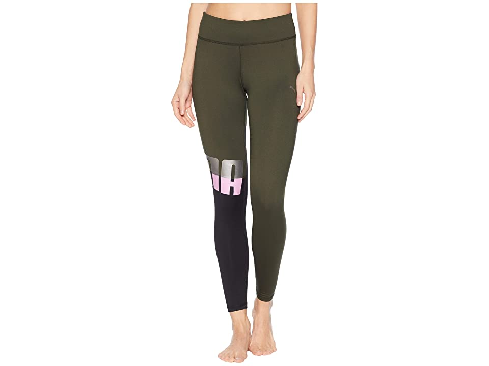 PUMA All Me 7/8 Tights (Forest Night/Puma Black) Women
