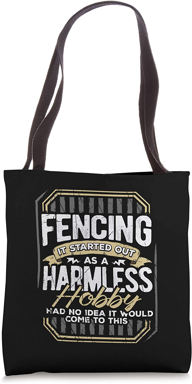 Funny Fencing Fencer Hobby Gifts For Men Tote Bag