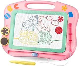 LOFEE Magna Drawing Doodle Board Present for 1 2 3 4 Year Old Girl,Magnetic Drawing Board..