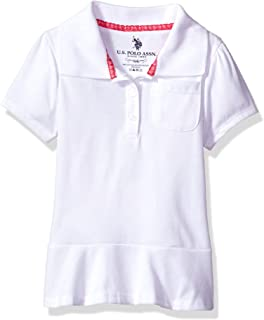 U.S. Polo Assn. Girls' Short Sleeve Jersey Polo Shirt (More Styles Available)