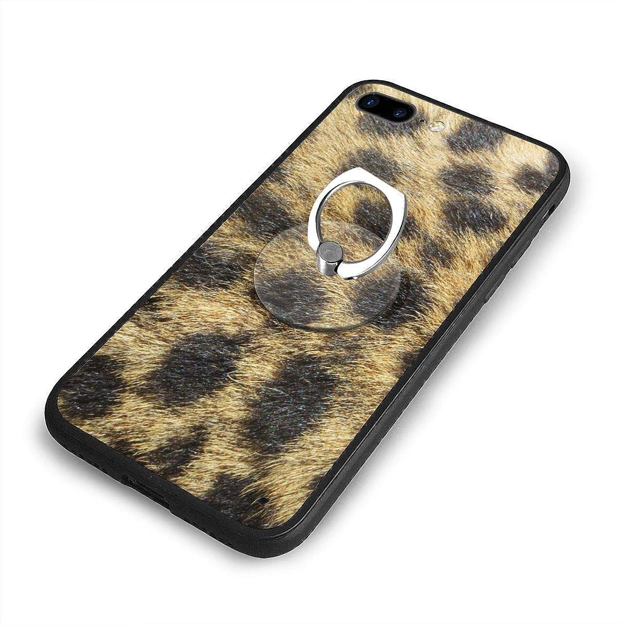鷲冷えるチェリー茶色と黒の織物iPhone 7/8 Plusケースリングブラケット 携帯カバー 創意デザイン軽量 傷つけ防止 360°回転ブラケット 携帯ケース PC 衝撃防止 全面保護