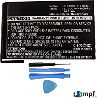 Replacement 4490mAh A1445, 616-0627, 616-0633, 616-0686, 616-0687, 616-0688 Battery for Apple iPad Mini 1 1st Generation A1432 Wi-Fi & A1454, A1455 Wi-Fi + 4G Cellular with Installation Tools
