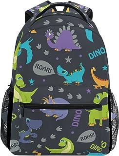 Mochila con diseño de dibujos de dinosaurios, ideal para el colegio, hacer senderismo o ir de viaje, unisex