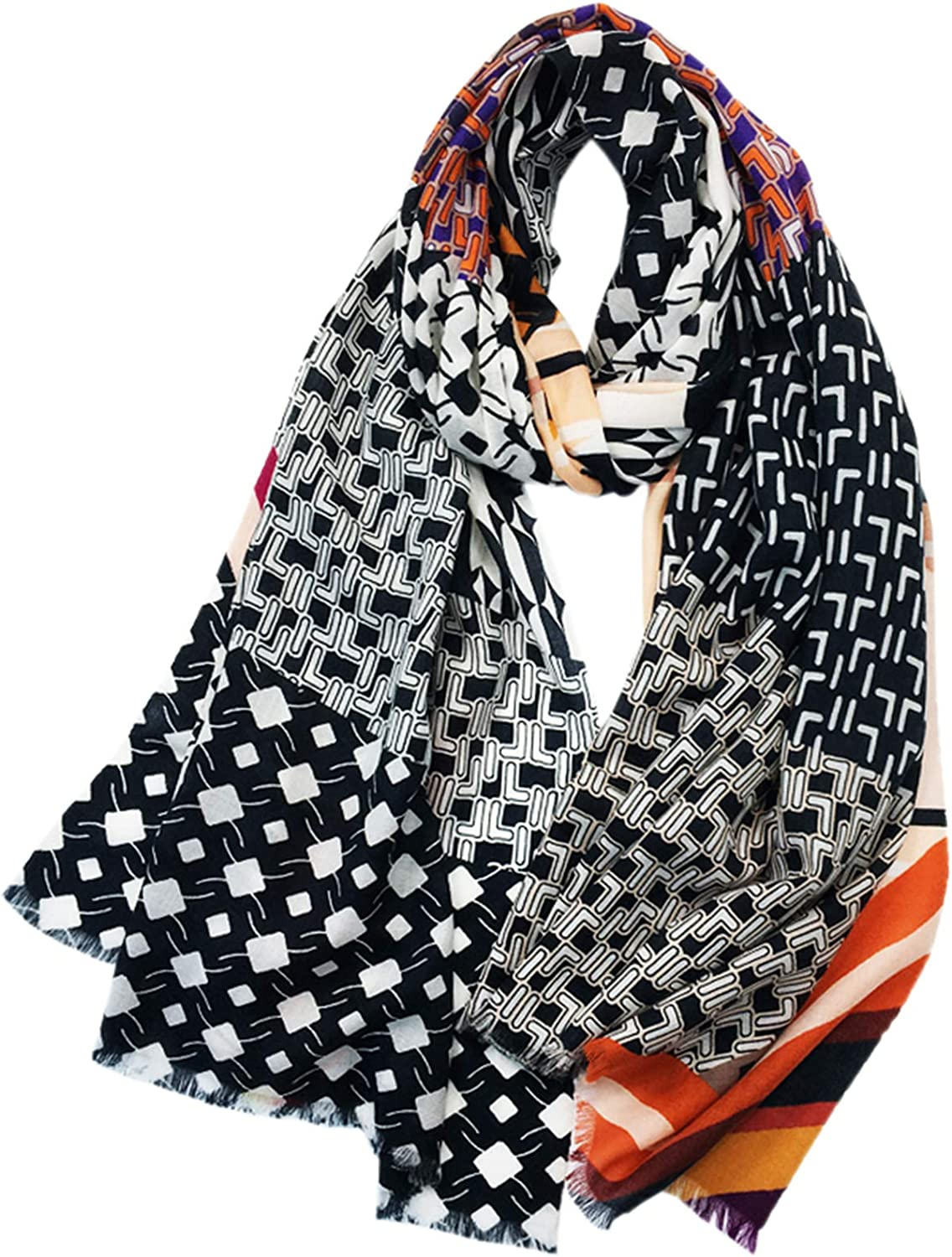 Scarves Wrapped Scarf Autumn and Winter Fashion Cashmere Scarf Widening and lengthening Thin Shawl Women Fashion All-Match Printing Large Shawl