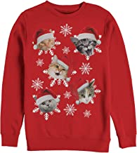 Men's Ugly Christmas Sweater Cat Snowflakes Sweatshirt