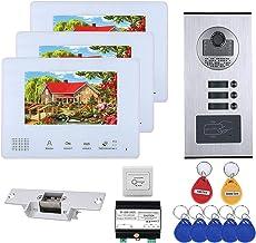 3 unidades Apartamento Autobús Apartamento 2 Sistemas de Intercomunicadores de Teléfono de Video Teléfono Teléfono de 7 pu...