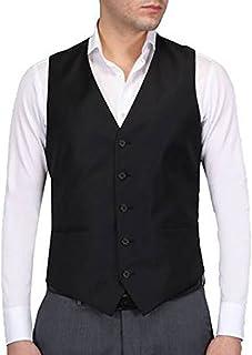 Hann Brooks Mens Black Formal Waistcoat S,M,L,XL,XXL,3XL,4XL,5XL