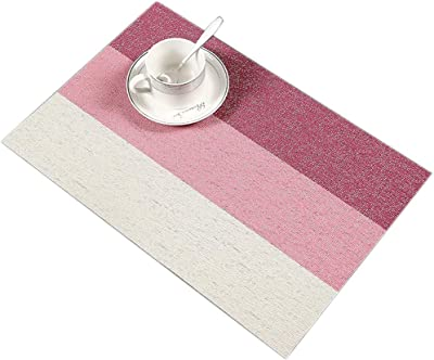 JN/_ ALS/_ Kitchen Dining Table Mat Heat Insulation Non-slip Stripe Pad waterpro