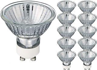 Simusi GU10 Halogen Bulbs,6 Pack 50W Warm White Dimmable Light Bulbs,220V Spotlight Bulbs 2800K,700 Lumens
