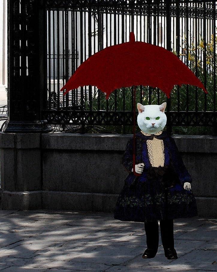 Parasol Anthro KITTY CAT Girl portrait
