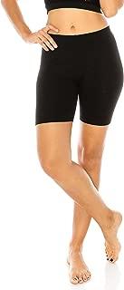 Women's Stretch Cotton Jersey Bike Yoga Workout Shorts S to 3XL Plus