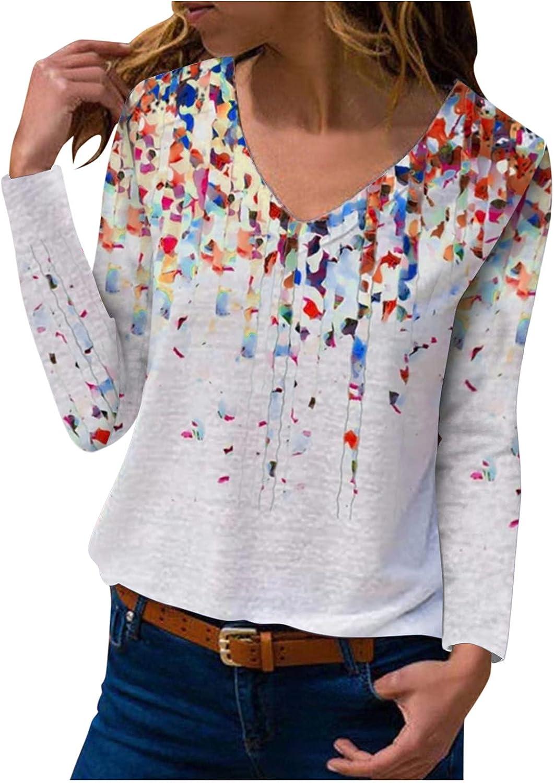 Vickyleb Womens Shirt,Women's Casual Crewneck Tie Dye Sweatshirt Striped Splice Cute Loose Soft Long Sleeve Shirts