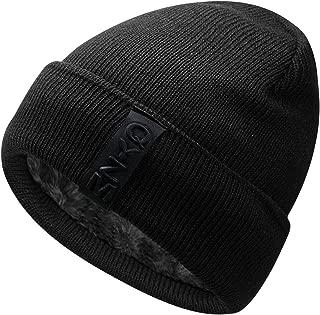 Knit Beanie Warm Thick Lined Hat Mens Winter Skull Cap Unisex Beanie Cap