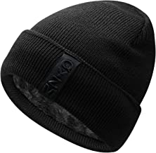 Hongtellor Knit Beanie Warm Thick Lined Hat Mens Winter Skull Cap Unisex Beanie Cap