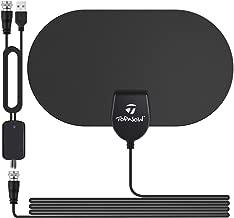 TV Antenna Indoor Digital HD, 2019 Newest Digital Antenna for 120 Miles Range, Support 4K 1080p with Detachable Amplifier - Black