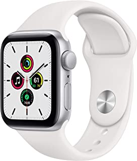 Apple Watch SE (Silver Aluminium, 40mm, White Sport Band, GPS Only)
