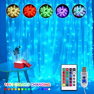 fairy light string curtains