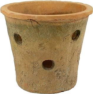 HomArt Rustic Terra Cotta Orchid Pot, Antique Red, 1-Count