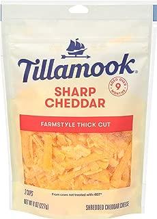 Tillamook Sharp Cheddar Shredded Cheese, 8 oz (Packaging May Vary)