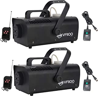 American DJ 1000W 1 Liter Medium Mobile Smoke Fog Machine w/Remotes (2 Pack)