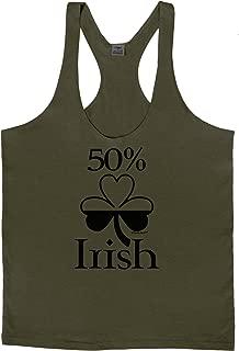 TooLoud 50 Percent Irish - St Patricks Day Mens String Tank Top
