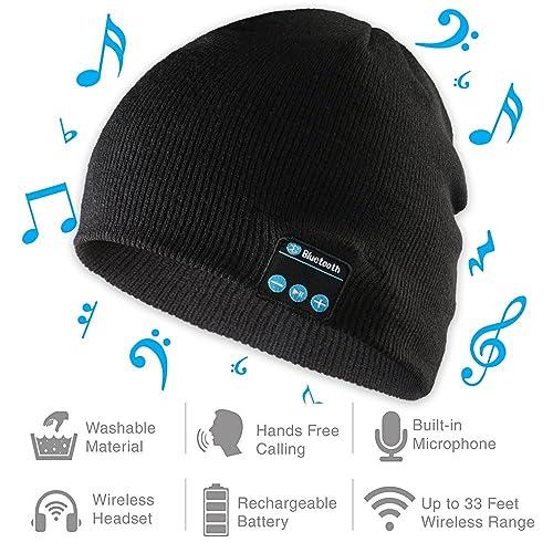 Bluetooth Beanie Hat, Wireless Headphones Cap, Winter Sport Slouchy Skully Men & Women beanie
