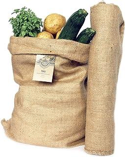 comprar comparacion Sacos Grandes de Yute 100% Natural - Pack 2 Bolsas Ecológicas. Organizador Rústico, 58x42 cm