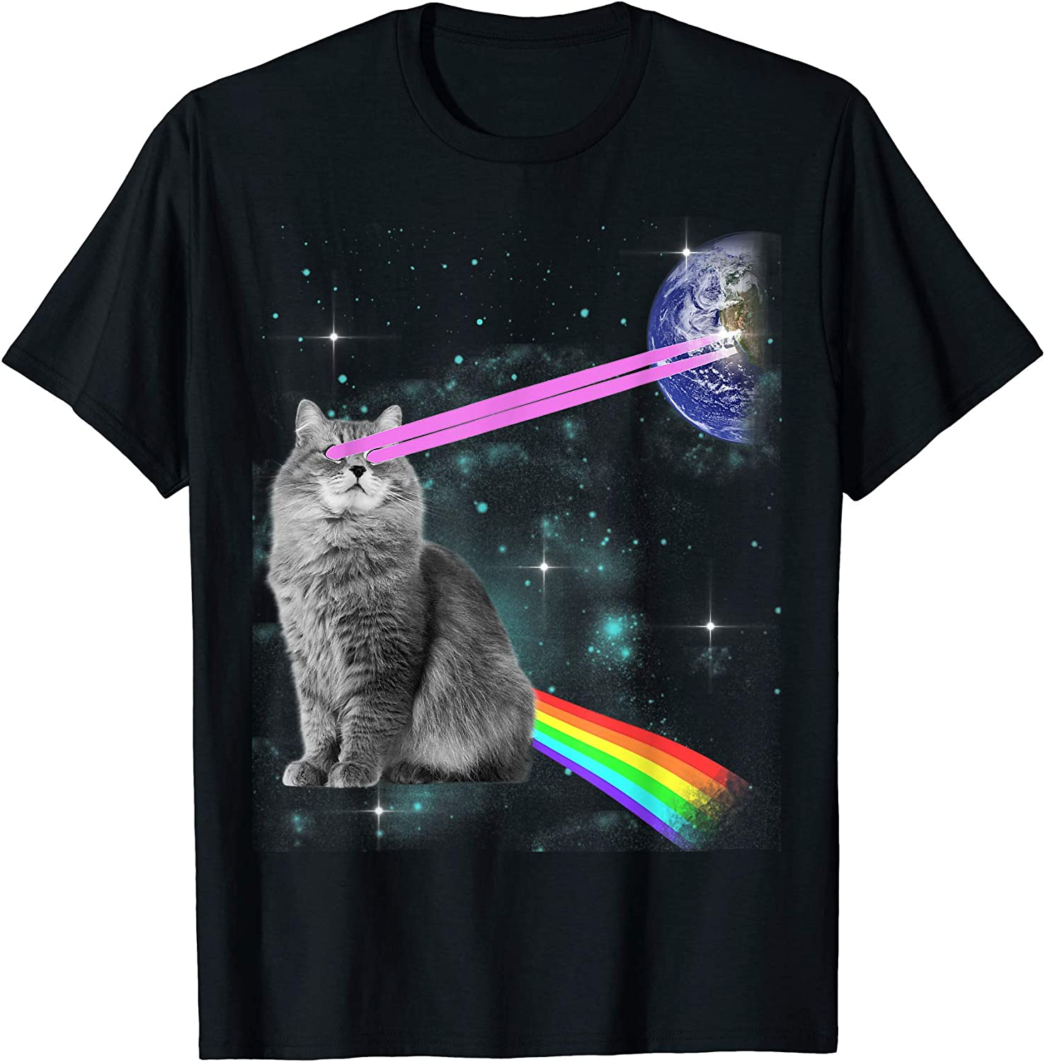 Cat Shirts Space Kitty Cat Lovers Womens Galaxy Cats T-Shirts
