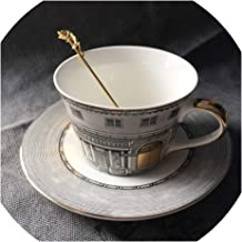Tea Cup Nordic Bone Gold Window Retro Swan Castle Classic Wind Coffee Cup Home Decoration (Does not contain a spoon),COLOR