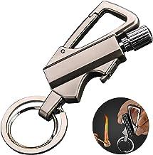 AIKENR Matchstick Fire Starter Keychain Bottle Opener, Permanent Metal Match Waterproof Flint Fire Starter, Kerosene Refil...