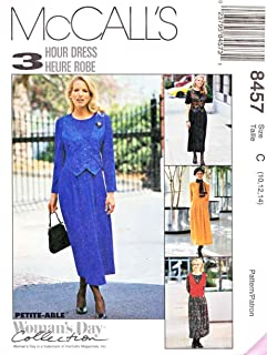 McCalls 3 Hour Dress Pattern 8457 Misses Dress with Variations Size 10-14 Woman's Day Collection - Easy to Sew