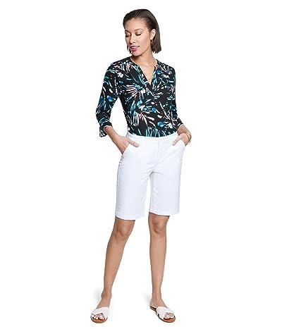 NYDJ Bermuda Shorts in Stretch Twill (Optic White) Women