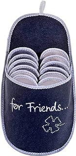ONVAYA Pantofole per ospiti antiscivolo | set di 6 | Ciabatta in feltro | For Friends Per gli amici felicità glitter fogli...