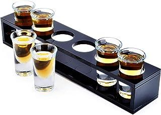 6 Pcs Shot Glasses, 0.9 oz Heavy Base Shot Glass Set, Sturdy Clear Glass for Whiskey Cocktail Tequila Cake Shots Espresso ...