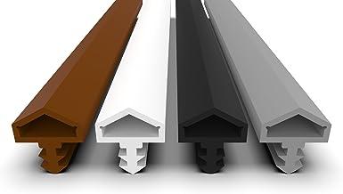 Deurafdichting met antirekdraad, 4 mm groefbreedte, 7 mm groefdiepte, 12 mm vouw, snel eenvoudig inbouwen van hoogwaardige...