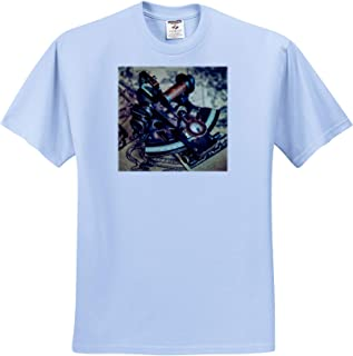 Still-Life T-Shirts 3dRose Alexis Photography Image of a Vintage Naval Index Tool Sextant on a Geographic map