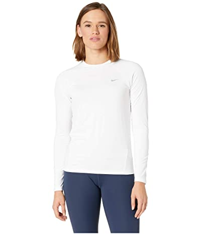 Nike Solid Long Sleeve Hydroguard (White) Women
