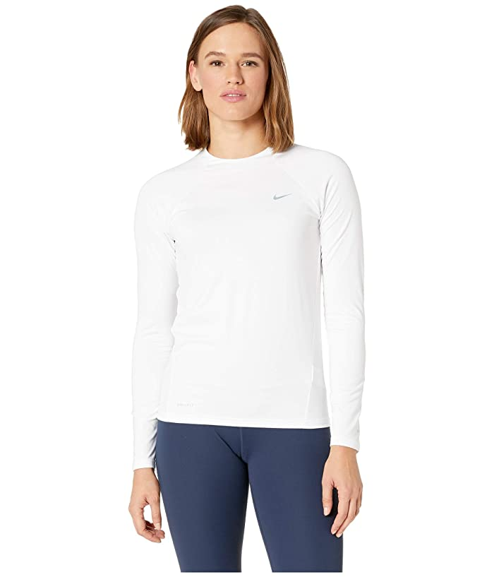 Nike Solid Long Sleeve Hydroguard (White) Women