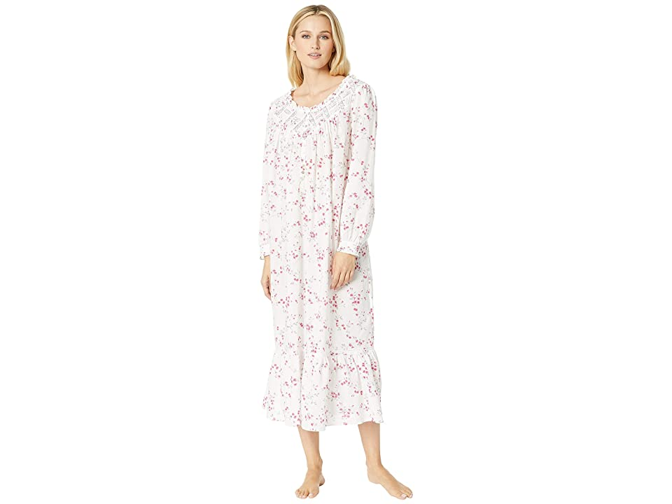 Eileen West Ballet Woven Floral Nightgown (White Multi Floral Scroll) Women