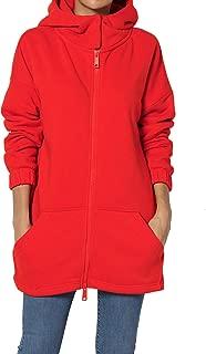 S~3X Funnel Neck Pocket 2 Way Zip Up Loose Fit Hoodie Sweatshirt Jacket