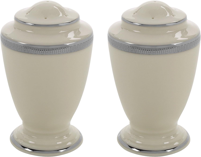 Lenox Kansas City Mall Tuxedo Platinum Opening large release sale Salt and Shaker Pepper SP Ivory Set