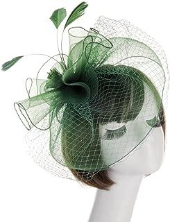 Fashion Women's Flower Feather Mesh Net Fascinator Hat